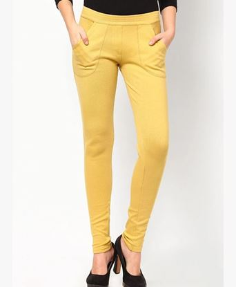Picture of Yellow Solid Jegging