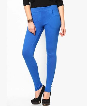 Picture of Blue Solid Jegging