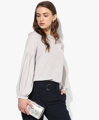 Picture of Grey Solid Blouse
